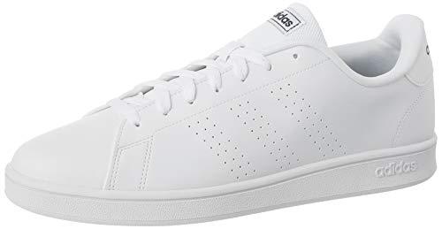 adidas Herren Advantage Base Tennisschuh, Ftwwht Ftwwht Trablu, 45 1/3 EU