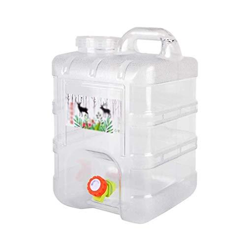 WOOGG Außen PC Lagerung Eimer, 15L / 20L Haushalt Große Kapazität mit Hahn reinen Eimern, Outdoor-Camping-Grill Eimer Wasserbehälter (Color : B, Size : 15L)
