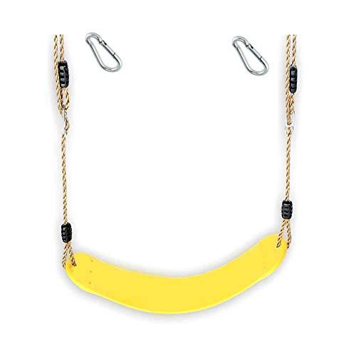 1 Stück h2i Kinder Schaukel Sitz aus flexiblem Gummi incl. Karabiner zum Einhängen (gelb)