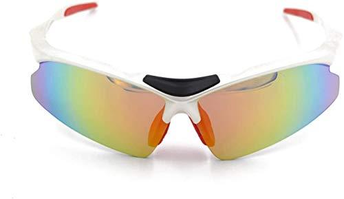 Squash bril Buiten mountainbiken Bril mannen en vrouwen met bijziendheid gepolariseerde zonnebril Outdoor bril (Color : Silver, Size : One Size)