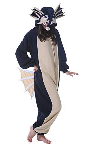 DELEY Unisex Adult Animal Sleepwear Warm Onesies Pajamas Cosplay Homewear Anime Costume Sapphire Blue