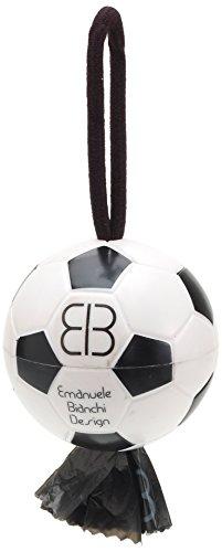Pet Ego Looper Sport Ball Ballon de Football Distributeur de Sac à déchets, Blanc/Noir P
