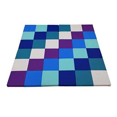 Affordable FDP Softscape Playtime Space Saver 4-Section Folding Activity Mat for Infants and Toddler...