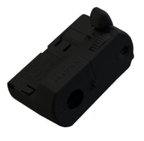 GlobalTrac 3-Phasenstromschiene Ausspeiser Stromabnehmer schwarz
