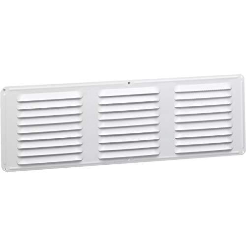 undereave de ventilación Air Vent 16'x 6' 42SQ. En. De Red libre zona aluminio color blanco