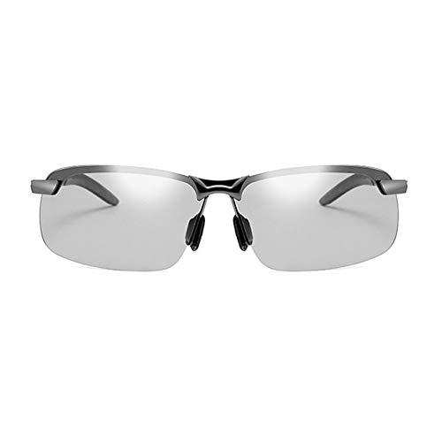 JTeam Gafas De Sol Polarizadas for Hombre Lentes Fotocrómicas Gafas Deportivas Conducción Y Ciclismo (Color : Gun metal)