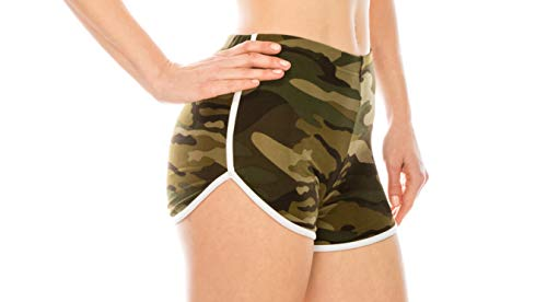 ALWAYS Women Camo Yoga Shorts - Premium Buttery Soft Stretch Short Pants 143 M