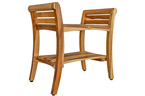 EcoDecors Symmetry -Shower -Bench, Natural