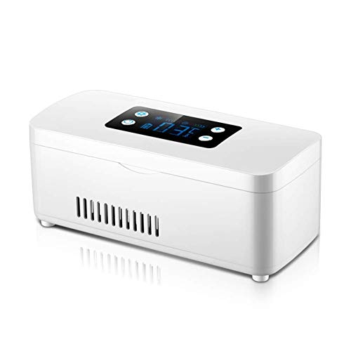 FZYE Enfriador de insulina portátil, Caja refrigerada para medicamentos, refrigerador de insulina de Carga Inteligente, Mini Estuche Enfriador de insulina con Pantalla LCD para Viajes e