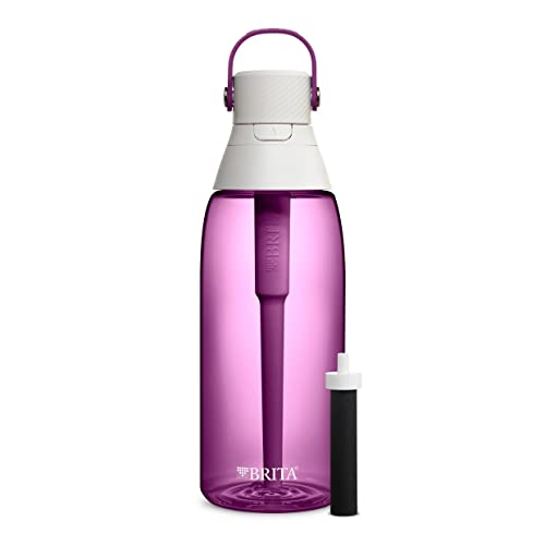 Brita Water Bottle with Filter - 36 Ounce Premium Filtered Water Bottle, BPA Free - Orchid