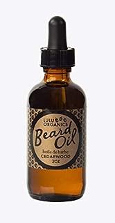 Beard Oil by Lulu Organics Cedarwood Scent in Economical 2 oz bottle