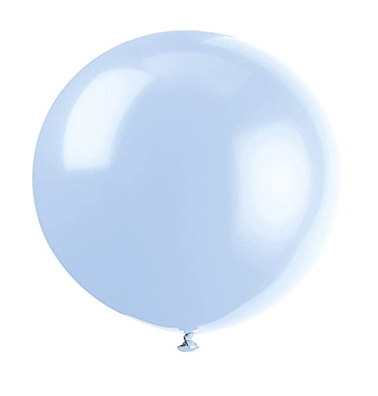 36'' Giant Latex Cool Blue Balloons, 6ct