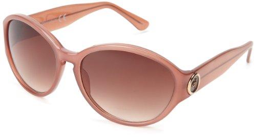 Andrea Jovine Women's A8023 Polarized Oval Sunglasses, Brown, 58 mm