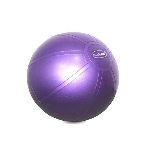 Swiss Ball mit Quick Pump, Anti-Burst & extra dickem Gymnastikball, Gymnastikball for Pilates-Fitnessübungen, Kernkraft, Geburtsball, Yoga & Schwangerschaft (Farbe : Purple, Size : 55CM)