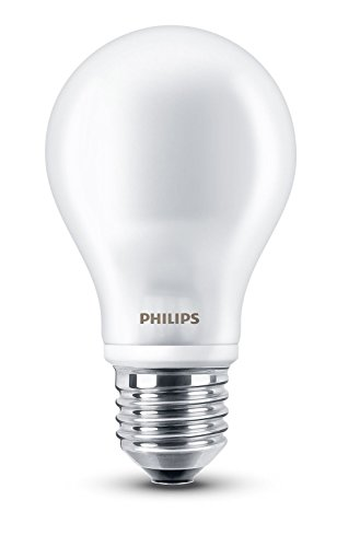 Philips 8718696472187 Ampoule LED équivalent E27 blanc chaud 60 W 2700 K 806 lm, matt, E27, 7 wattsW
