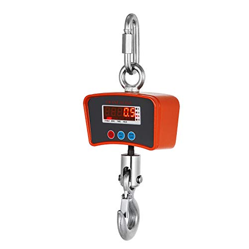 Guellin 1000kg Báscula de Grúa 220V Escala de Grúa Digital Báscula Digital Balanza de pesaje electrónica para Caza, Granja y Construcción (1000kg)