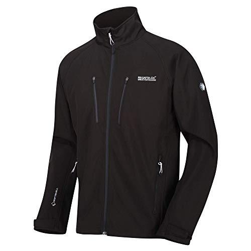 Regatta Herren Nielson V Water Repellent Wind Resistant Softshell Jacke, Schwarz, m