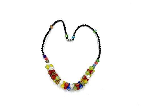 Skyllc® Collier en perles de verre en forme de cacahoué