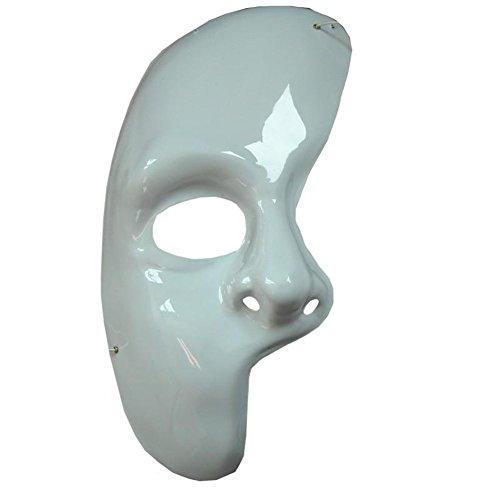MyPartyShirt Phantom of The Opera Blanc Demi-Masque Adulte Masquerade