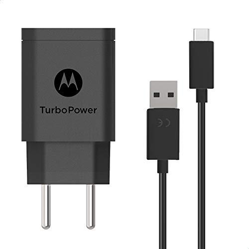 Carregador de Parede Motorola Turbo Power 18W, 100-240V, com Cabo USB Tipo-C, Preto
