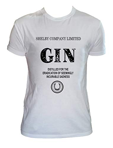 Shelby Company Limited Gin T Shirt Herren Kinder Serien Shirt, Kinder 12-14 Jahre