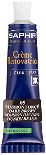 Saphir Cirage Crème Rénovatrice Marron Fonce Tube 25 ml