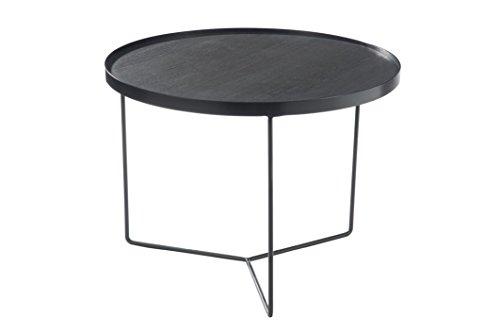 Jolipa - Table gigogne ronde en Bois/métal marron H45xØ60.5cm