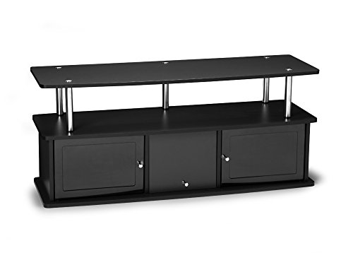 Convenience Concepts Designs2Go TV Stand with 3 Cabinets, Black