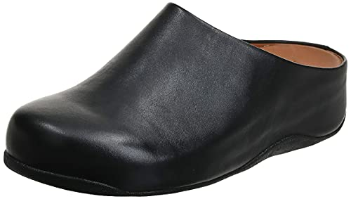 Fitflop SHUV-Leather, Zuecos Mujer, Negro (All Black), 41 EU