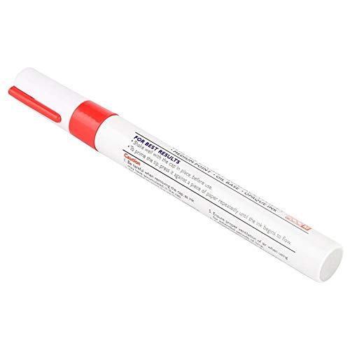 Reifenmalstift Auto reifenstift, 1 Stk. Wasserdichter professioneller Autostift Reifenlackstift Markierungsstifte(rot)