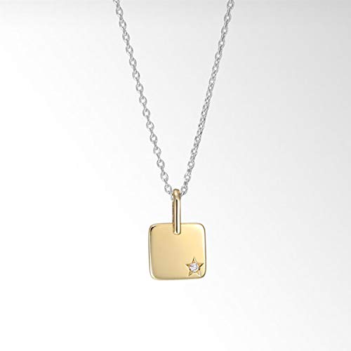 Star Jewelry(スタージュエリー)『DIAMOND PLATE NECKLACE SQUARE(2SN1562/2SN1561)』