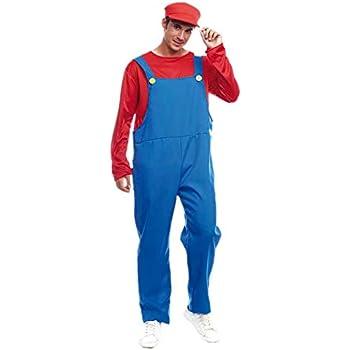 Disfraz Fontanero rojo hombre adulto para Carnaval (S): Amazon.es ...