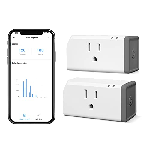 Sonoff S31 Wi-Fi Smart Plug with Energy Monitoring ETL Certified 2-Pack, Smart Socket Outlet Timer Switch, Compatible with Alexa & Google Home Assistant, IFTTT Supporting, No Hub Required
