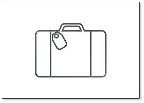 Koffer Travel Line Sketch Koelkast Magneet