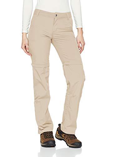 Columbia Silver Ridge 2.0 Pantalones de Senderismo Convertibles, Mujer, Fossil, 4 R
