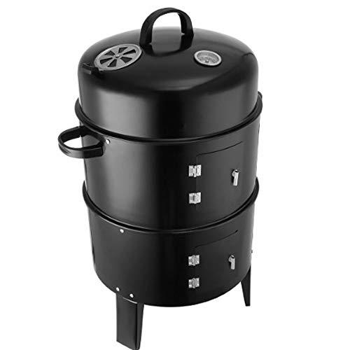 ZA Innovatieve metalen 3-in-1 BBQ-grill-roosterstoom-barbecue-grill-draagbare kampeerhoutskool-oven-grill buitenshuis, kampeerende grill