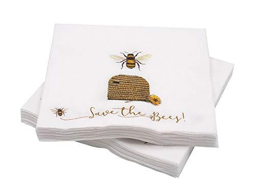 Unbekannt Servietten Bienen Imker Frühstück Bienenstock Honig Tischdeko