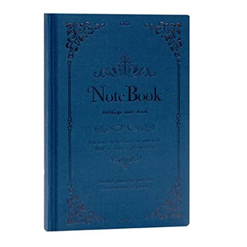 Cuadernos Cuaderno para trabajos Moda Imitación de cuero Oficina de Estudiante Diario Diario Retro Estilo Chino Funda Dura 8.3 pulgadas * 5.7Nich Diario (Color : Dark blue)