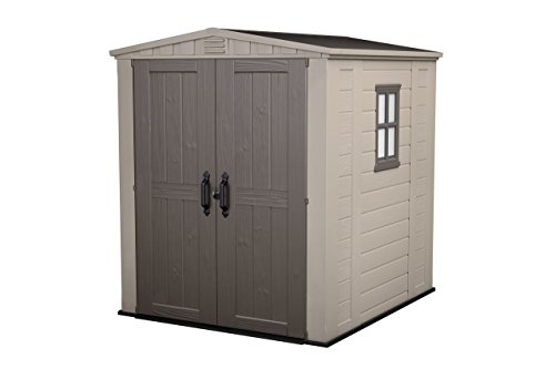 Keter Factor 6 x 6 lockable shed for garden, 6100 litres winter proof.