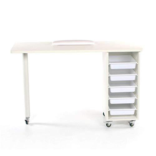 urbanity Metro de uñas Technician escritorio Salon Manicura Workstation Color Blanco