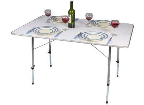 Kampa – brede tafel Hi Lo – verstelbare poten