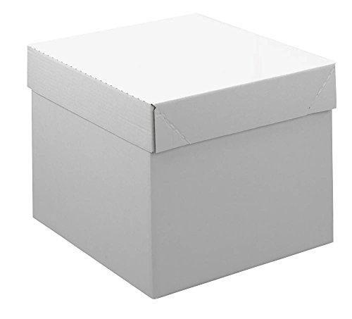 20 Kartons mit abnehmbarem Deckel 2-wellig / weiß / 43,8 x 38,5 x 33,6 cm (LxBxH)