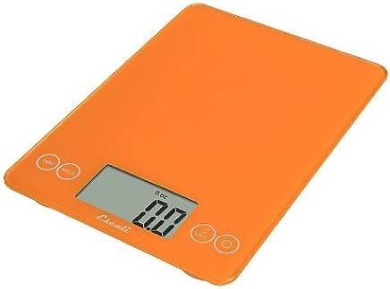 Escali 157OO Arti Glass Digital Kitchen Scale 15Lb/7Kg, Overly Orange