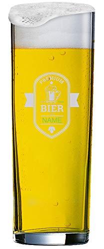 MeinGlas GmbH Kölschglas 0,2 l mit individueller Namensgravur Premium Bier von Name seit XXXX