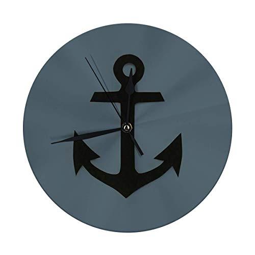 Meili Shop Wanduhr Anker Marine Abenteuer Zeichen Symbol Symbol Vintage Wanduhr