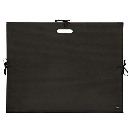 Clairefontaine 38929C - Carpeta de dibujo con asa, 52 x 72 cm, color negro ⭐