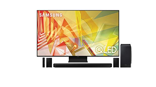 Samsung QN55Q90TA 55' 4K Ultra High Definition HDR QLED Smart TV with a Samsung HW-Q950T 9.1.4 Channel Soundbar with Dolby Atmos and DTS:X (2020)