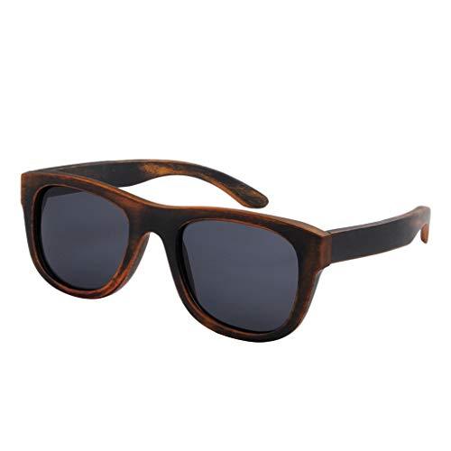 GSSTYJ hoogwaardige handgemaakte bamboe-zonnebrillen handgemaakte bamboe-houten zonnebrillen-unisex glazen met bamboehouten frame