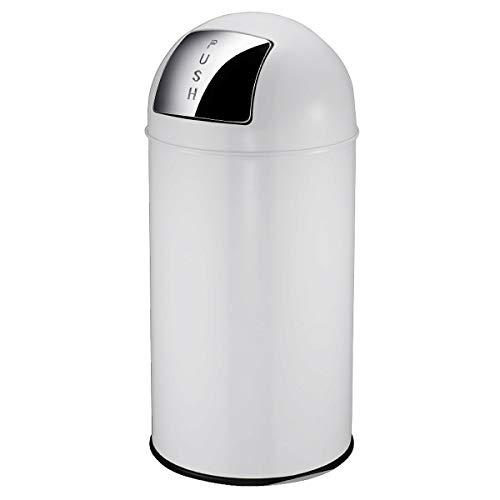 V-Part Pushcan Poubelle à pédale Blanc 40 litres