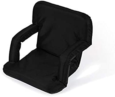 Ruiqas Multiangle Cushioned Recliner Easy Comfort Floor Chair Adjustable Back Support Chair Outdoor Camping Beach Stadium Folding Seat Cushion